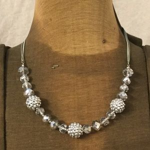 Silver and clearBeaded Necklace